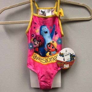 Beat bugs one piece bathing suit